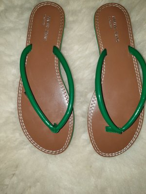 Armani Jeans Flip flop sandalen wit-groen
