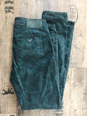 Armani Jeans Drainpipe Trousers dark green-forest green