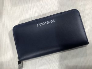 Armani Wallet silver-colored-dark blue