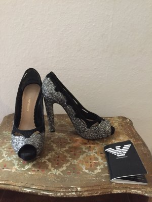 Armani High Heels black-silver-colored