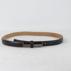 Armani Belt black-oatmeal leather