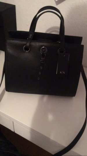 Armani Exchange Sac à main noir faux cuir