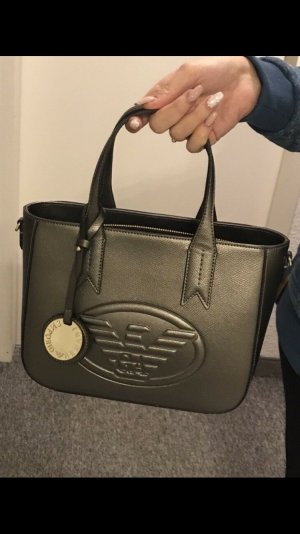 Armani Handbag silver-colored-black