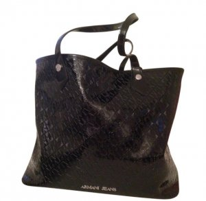 Armani Jeans Shopper black synthetic material