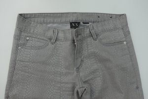 Armani Exchange Trousers silver-colored cotton