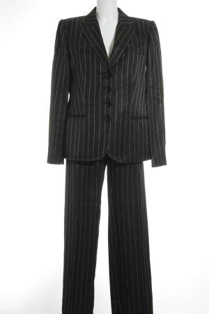 Armani Hosenanzug schwarz-weiß Streifenmuster Business-Look