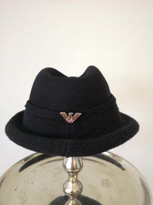 Emporio Armani Woolen Hat black-silver-colored