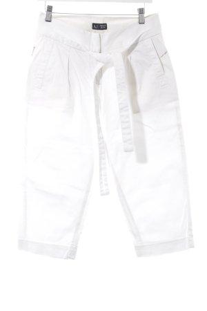 Armani Jeans 3/4-Hose weiß Street-Fashion-Look