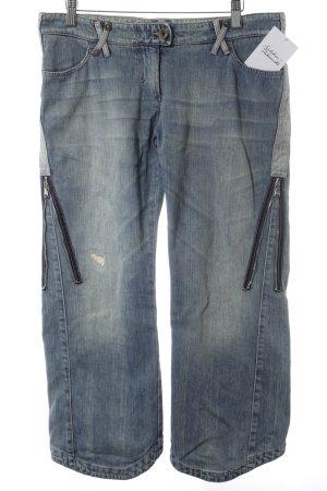 Armani Jeans 3/4 Jeans stahlblau Casual-Look