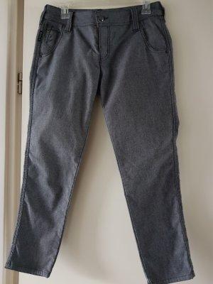 Armani Jeans Pantalón tobillero negro-gris antracita Algodón