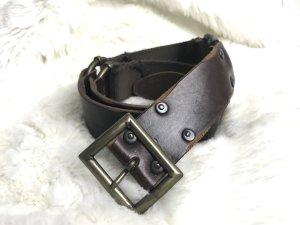 Armani Jeans Ceinture en cuir brun-brun foncé