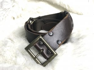 Armani Jeans Leather Belt brown-dark brown