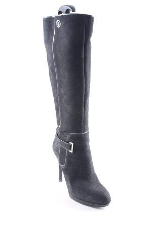Armani Jeans Stivale con tacco nero stile urbano