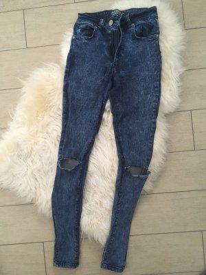 Armani Jeans Hoge taille broek donkerblauw