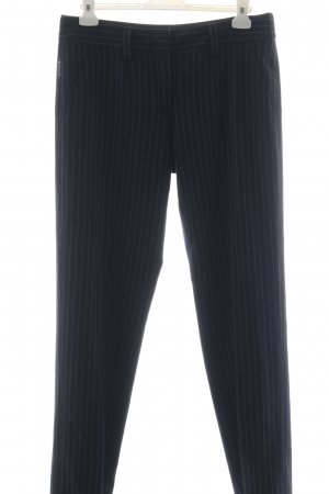 Armani Jeans Suit Trouser grey-dark blue striped pattern business style