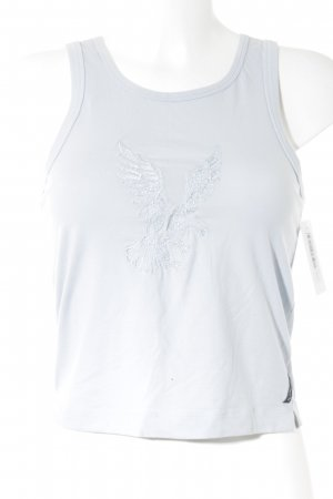 Armani Jeans Basic Top azure themed print casual look