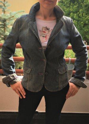 Armani Jeans Blazer en jean multicolore coton