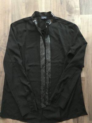 Armani Jeans Tie-neck Blouse black polyester
