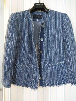 Armani Jeans Short Jacket cornflower blue-azure cotton