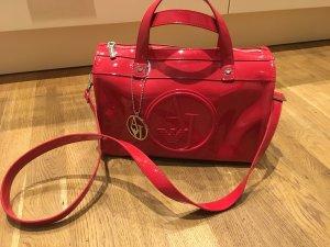 Armani Jeans Bowling Bag, rot Lack, red glänzend, Tasche