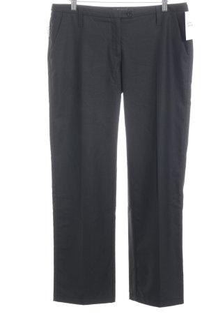 Armani Jeans Bundfaltenhose schwarz Business-Look