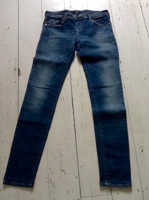 Armani Jeans Low Rise jeans donkerblauw