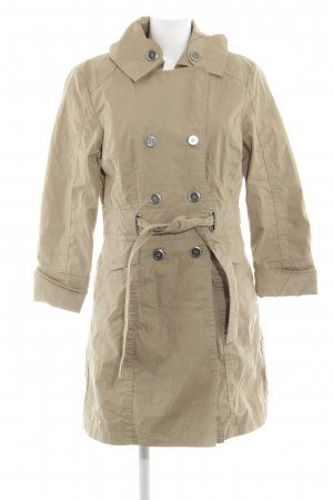 Armani Jeans Heavy Pea Coat cream business style