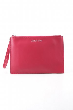 "Armani Jeans Clutch ""Eco Synthetic Chain Crossbody Bag Geranio"" rot"