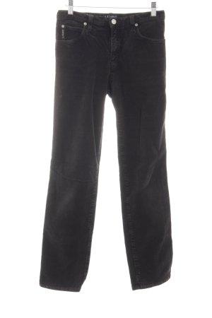 Armani Jeans Pantalón de pana negro look casual
