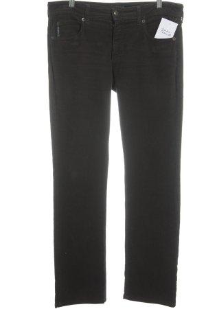Armani Jeans Corduroy broek donkerbruin gestippeld casual uitstraling