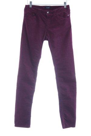 Armani Jeans Cordhose purpur Streifenmuster Casual-Look