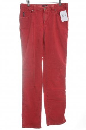 Armani Jeans Pantalon en velours côtelé rouge style classique