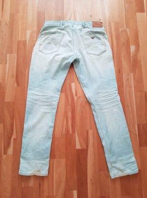 Emporio Armani Jeans bootcut bleu clair coton