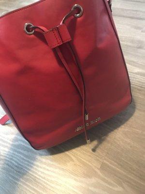 Armani Jeans Bolso tipo marsupio rojo oscuro