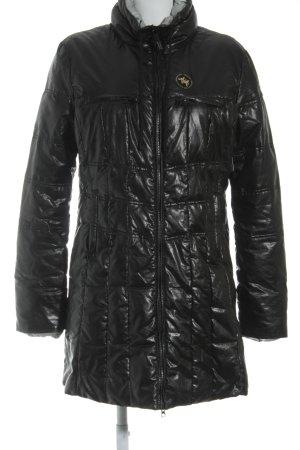 Armani Jeans Manteau en duvet noir-gris clair style décontracté