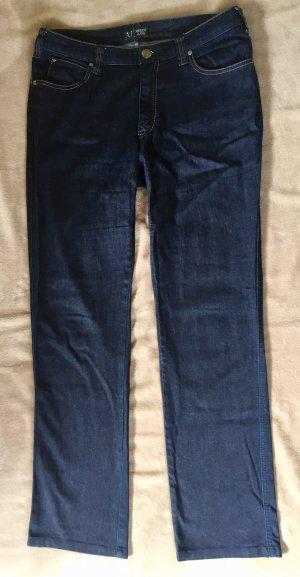 Armani Jeans dunkelblau Straight-Leg Jeans