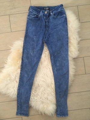 Armani Jeans Hoge taille broek neon blauw