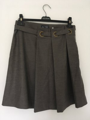 Armani Jeans Plaid Skirt grey brown-grey