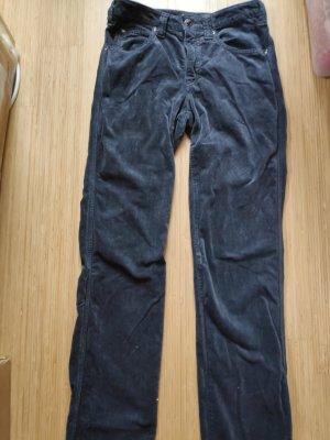 Armani Jeans Pantalon en velours côtelé gris ardoise