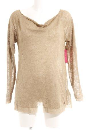 Armani Jeans Feinstrickpullunder sandbraun Casual-Look