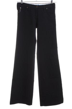 Armani Jeans Pantalón de cinco bolsillos negro estilo «business»