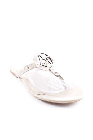 Armani Jeans Flip flop sandalen room Monogram-patroon casual uitstraling