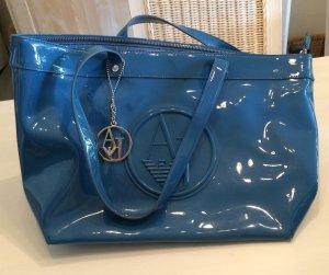 Armani Jeans Fulton LG Shoulder Tote Steel Blue NEU