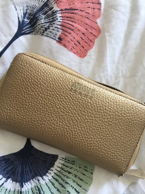 Armani Jeans Wallet gold-colored