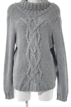 Armani Jeans Grobstrickpullover blassblau Zopfmuster Casual-Look