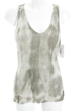 Armani Jeans Gehaakte top zilver kleurverloop glitter-achtig