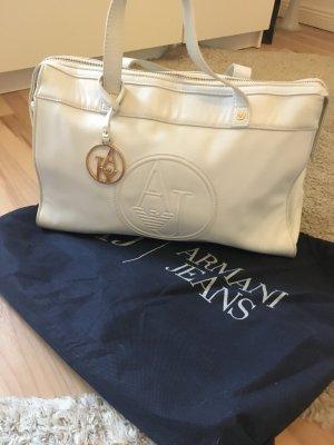 Armani Jeans Sac à main blanc-doré
