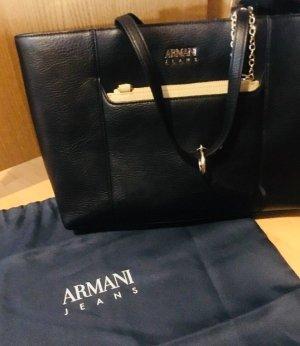 Armani Jeans Borsa telaio nero-crema
