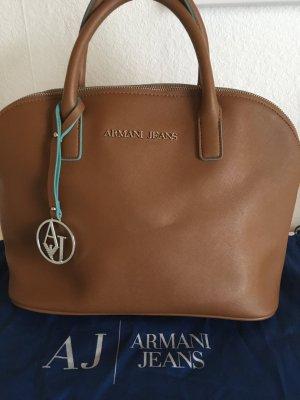 Armani Jeans Handbag cognac-coloured-light blue