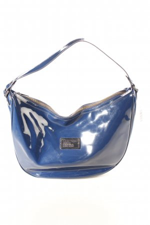Armani Jeans Handtasche dunkelblau Glanz-Optik